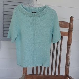 TALBOTS TOP LIGHT AQUA